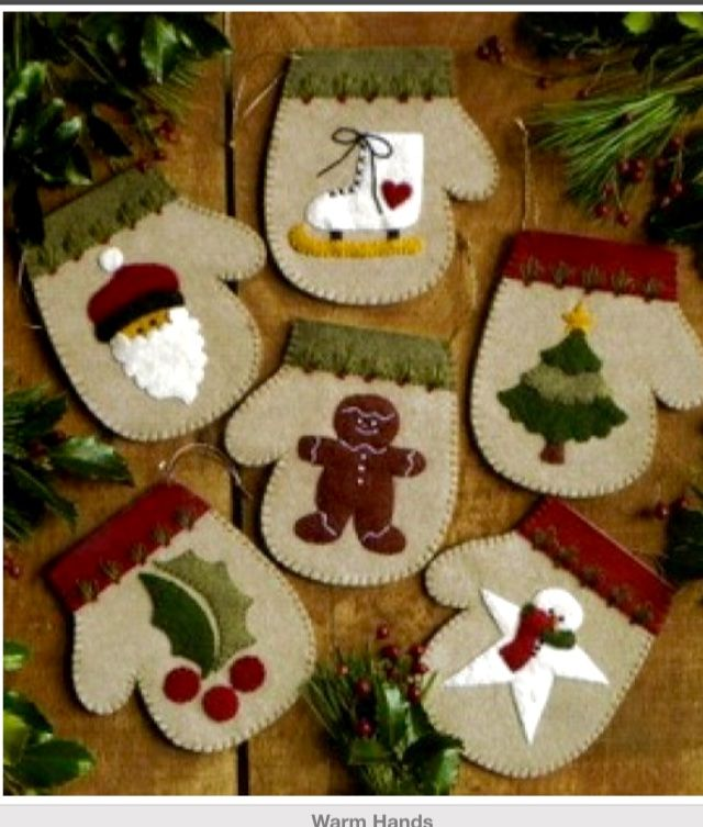 Navidad manitas para que os quiero - Adornos con fieltro ...